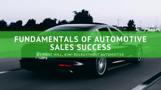 Fundamentals of Automotive sales success