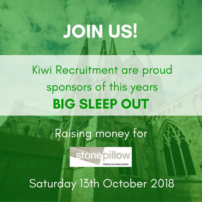 Kiwi proudly sponsor Stonepillow's award-winning annual Big Sleep Out charity event