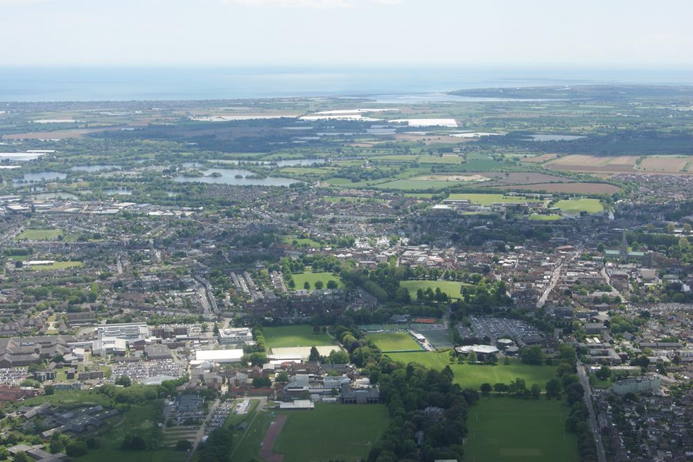Aerial image of Chichester city